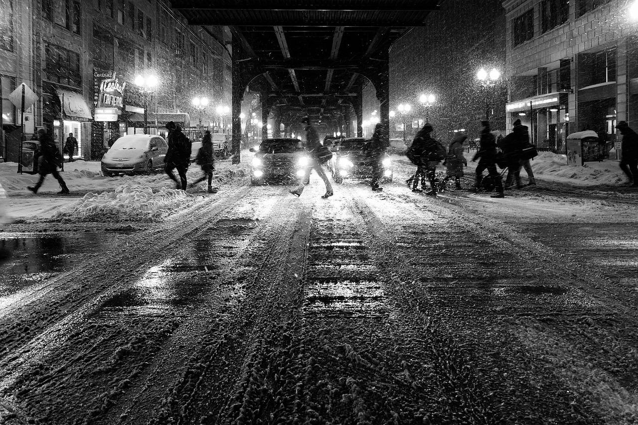 Enquête de nuit en ville, détective